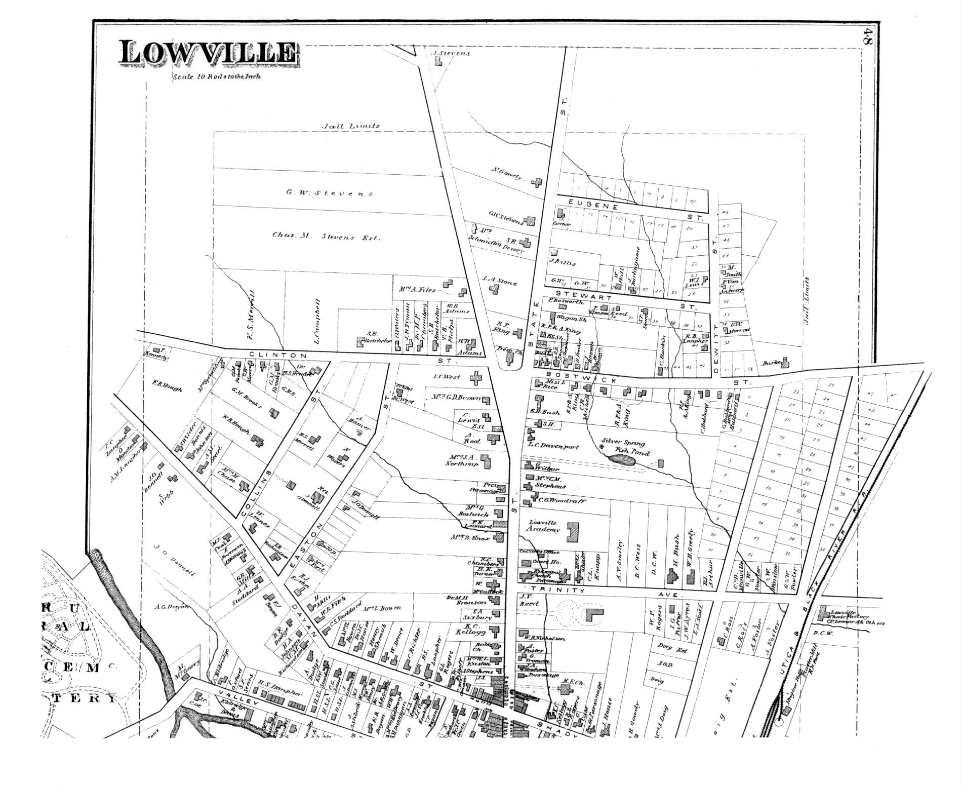 dg beers  atlas of lewis county ny - lowville  north section